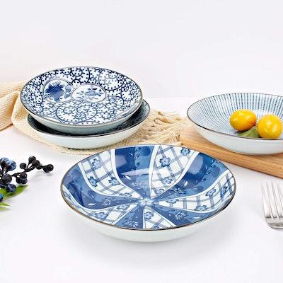 YALONG Blue Plate Set (4-Pack)