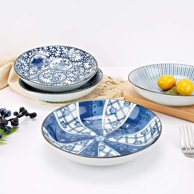 YALONG Blue Plate Set (4-Pack)
