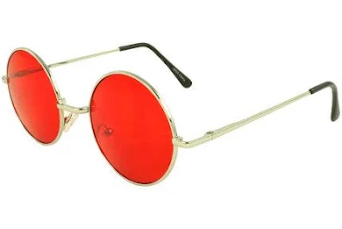 MLC Retro Round Sunglasses in Red
