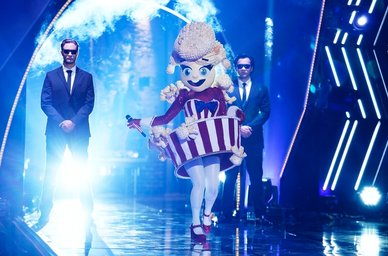 The Popcorn costume from 'The Masked Singer' Season 4 via Fox's press site