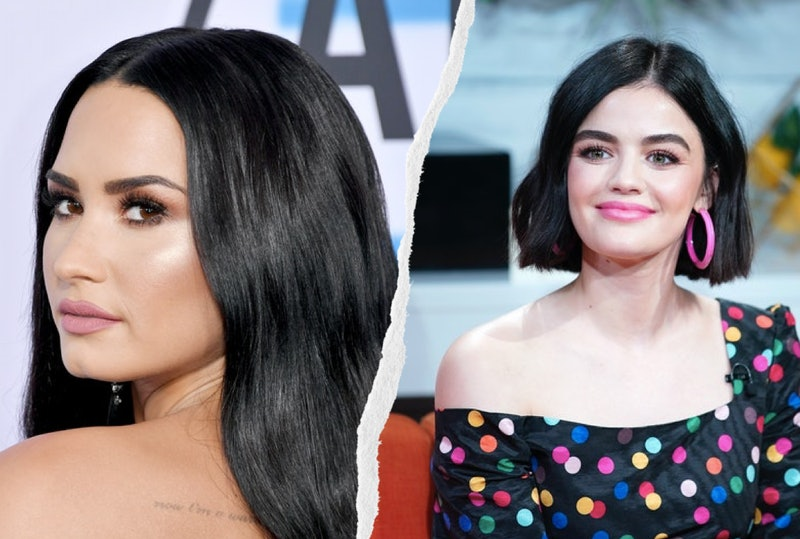 Lucy Hale and Demi Lovato's piercings are so dainty.