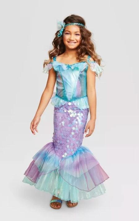 Kids Mystic Mermaid Halloween Costume Dress