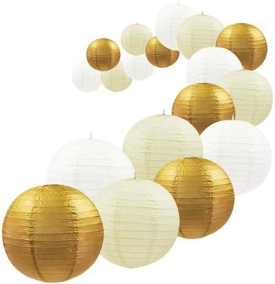 UNIQOOO Assorted Paper Lanterns (18-Pieces)