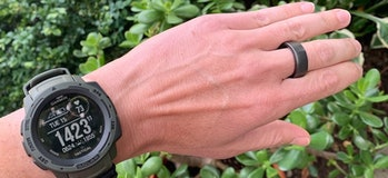 A smartwatch and smart ring.