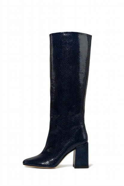 Bo Boot, Navy Snake Embossed