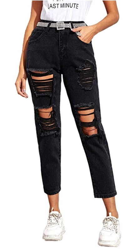 SweatyRocks Women's Ripped Boyfriend Jeans