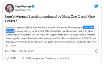 Microsoft's Xbox One X and Series X have names that are easy to confuse.