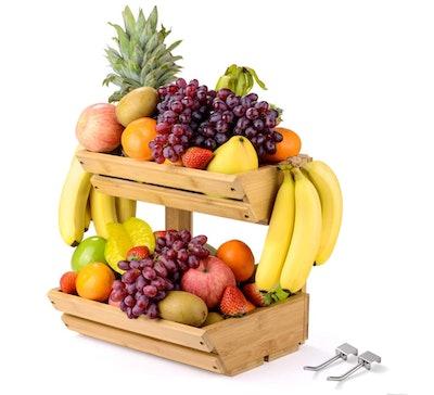 Sunix Bamboo Fruit Basket Holder