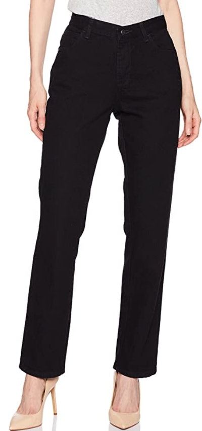 Lee Women's Misses Relaxed Fit All Cotton Straight Leg Jean