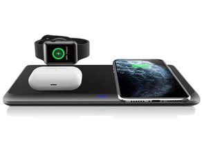 QI-EU 3 in 1 Wireless Charging Station