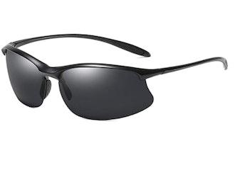 ZHILE Semi Rimless Wrapped Sunglasses