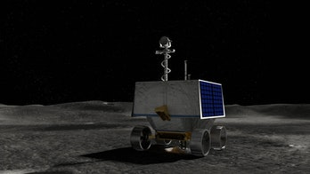 An artist's depiction of the VIPER on the lunar surface.