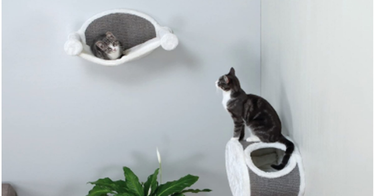 These Cat Shelves Double As Scratching Posts — & They Will Keep Your Pets Purring With Delight