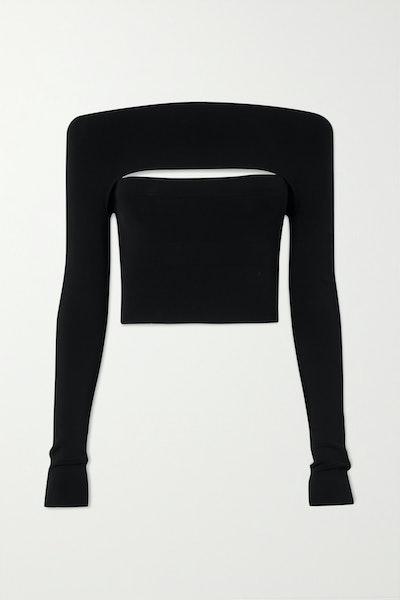 Convertible Stretch-Jersey Knit