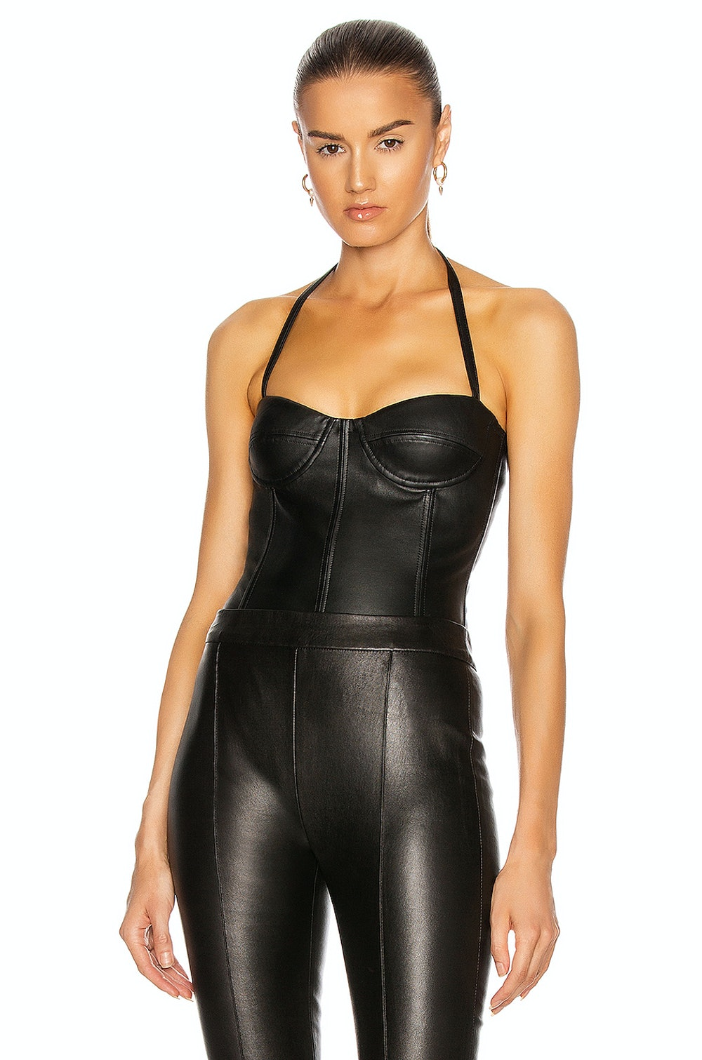 Leather Bustier Bodysuit