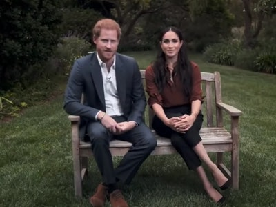 During a rare appearance on primetime TV on Tuesday, Prince Harry and Meghan Markle stressed the importance of voting.