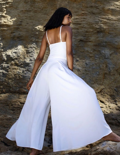 Mj White Wide Leg Pant