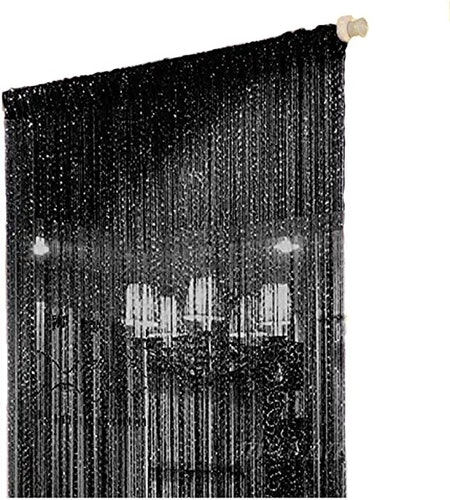 Black String Room Divider