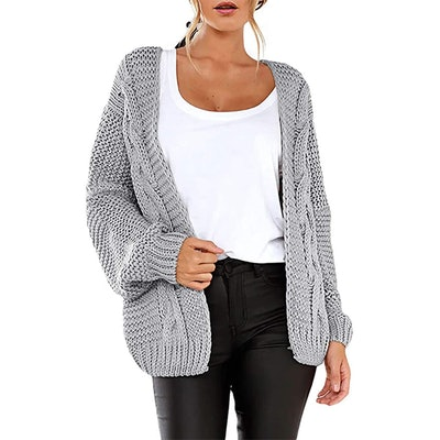 Astylish Open Front Loose Cardigan