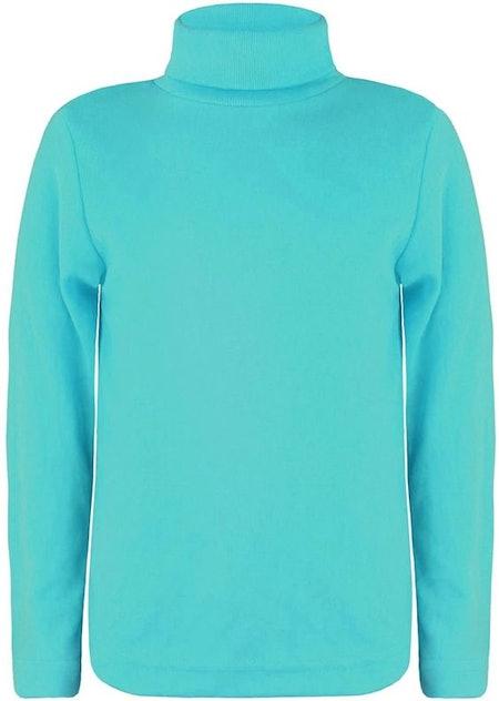 LOTMART Kids Turtleneck Long Sleeve Plain Basic Top Girls Boys Jersey Polo Tops
