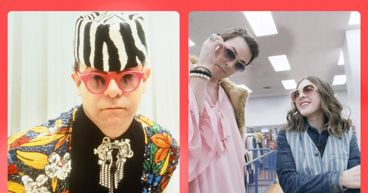 Elton John has a luxe wardrobe, but you can find excellent dupes thrifting