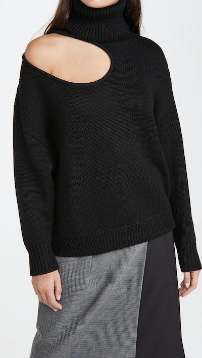 Kidney Bean Cutout Sweater