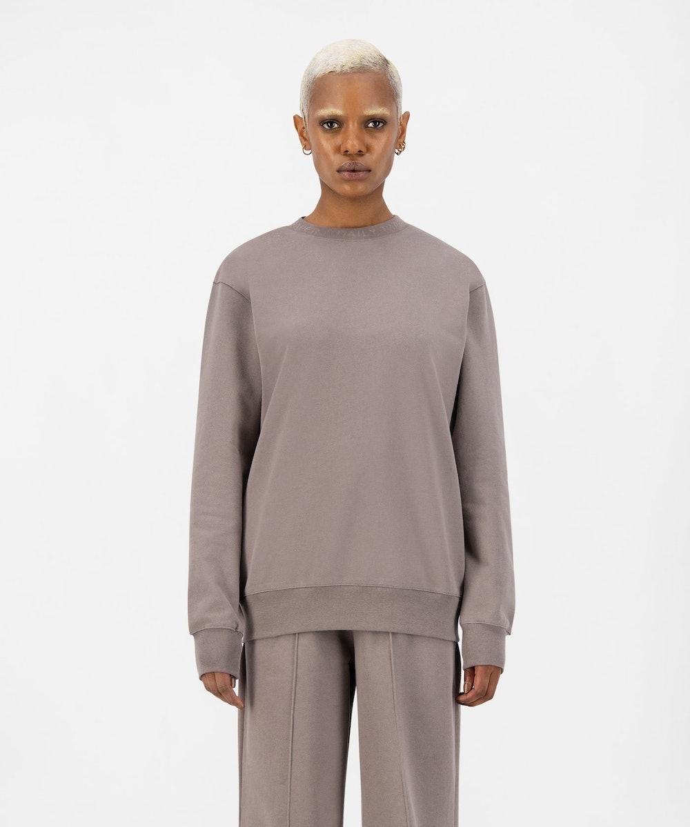 Iron Brown Derib Sweater