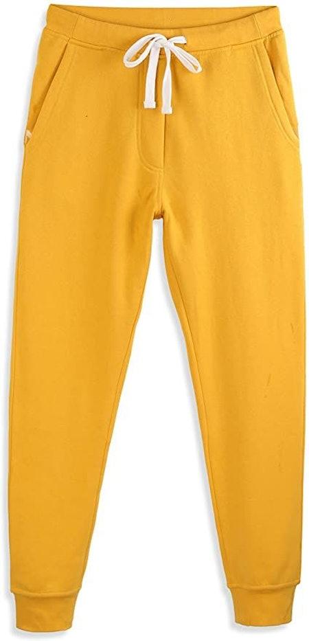 HARBETH Men's Casual Fleece Jogger Sweatpants Cotton Active Elastic Pocket Pants