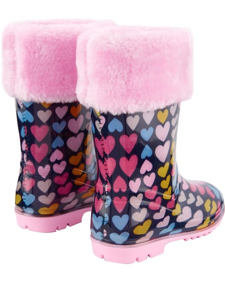 Fleece-Lined Rain Boots
