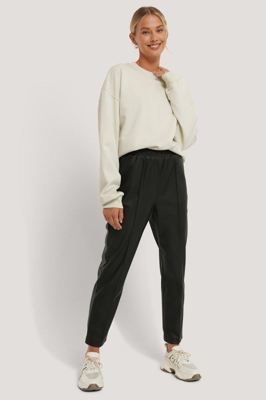 Recycled Elastic Waist PU Pants
