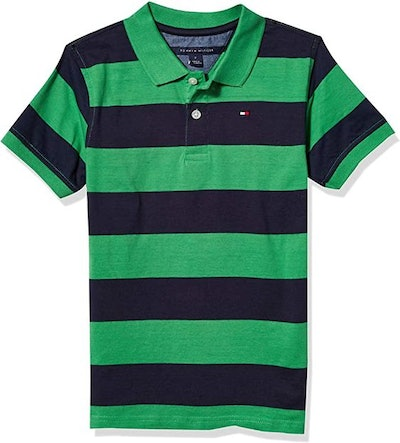 Tommy Hilfiger Boys' Short Sleeve Wide Stripe Polo