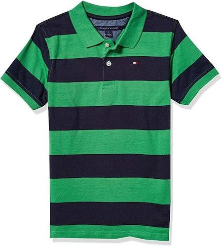 Tommy Hilfiger Boys' Short Sleeve Wide Stripe Polo