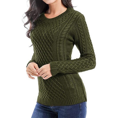 v28 Crew Neck Long Sleeve Knit Sweater