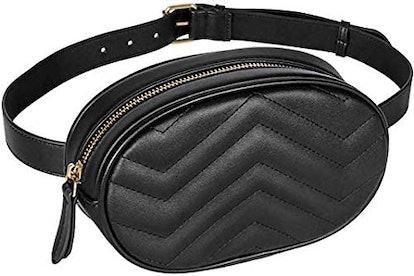 Geestock Women Waist Bags Waterproof PU Leather Belt Bag Fanny Pack