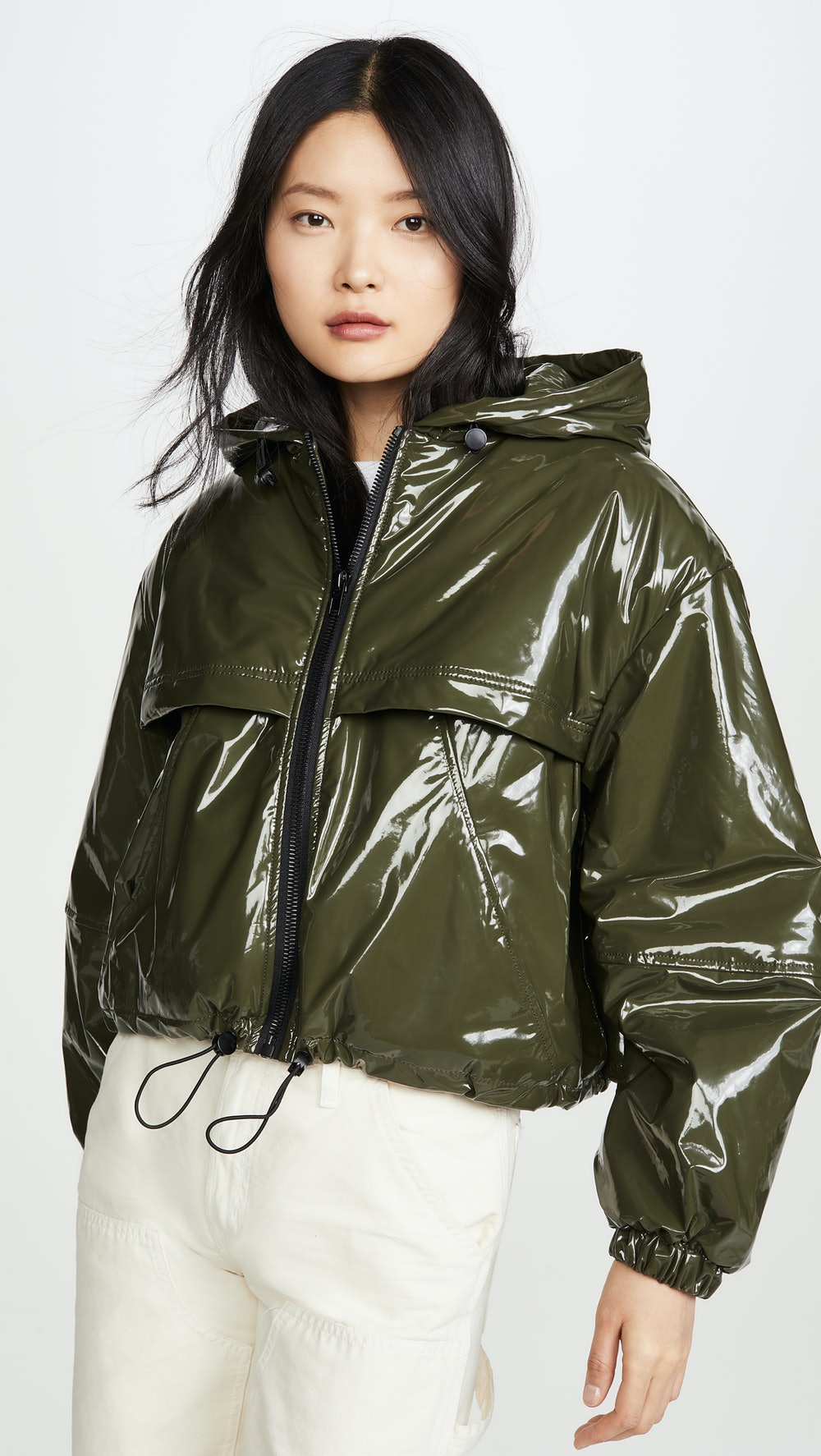 Colby Cropped Vegan Leather Bomber