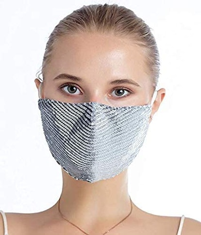 Fashion Sequin Glitter Cotton Masks for Women Filter Pocket and Filter Included | Glamour Masks