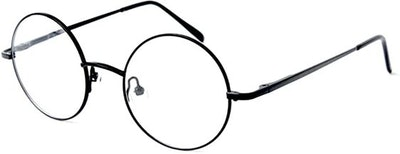 Big Mo's Toys Wizard Glasses - Round Wire Costume Glasses Accessories for Dress Up - 1 Pair Black