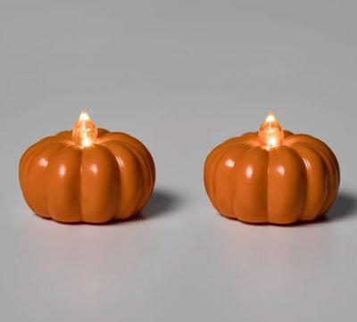 2-Pack Halloween Pumpkin Tea Lights