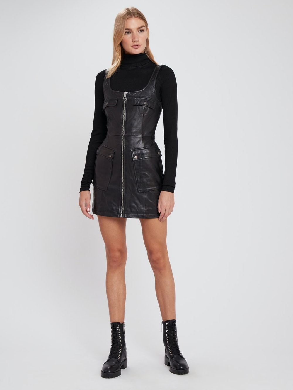 Phantom Leather Mini Dress