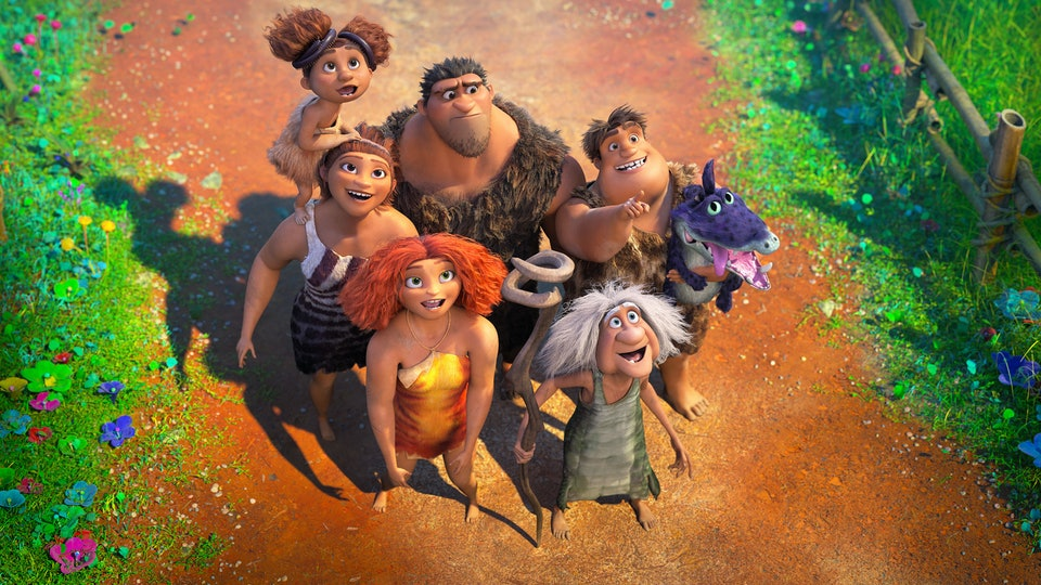 The new 'Croods' movie picks up where the first left off seven years ago and puts the family in a brand new environment.