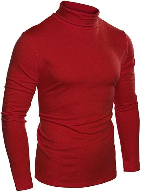 COOFANDY Men's Slim Fit Basic Thermal Turtleneck T Shirts Casual Cotton Knitted Pullover Sweaters