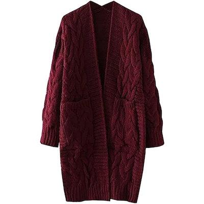 Futurino Oversized Long Knitted Cardigan