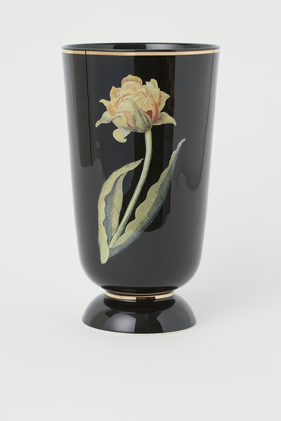 Flower-Design Vase