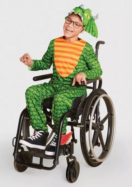 Kids Adaptive Dragon Costume Jumpsuit With Headpiece