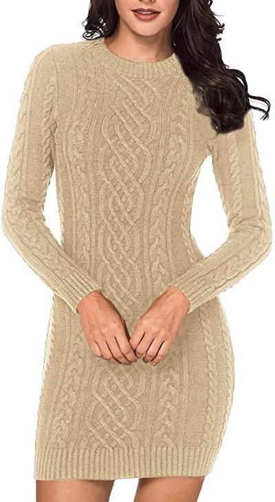 LaSuiveur Cable Knit Dress