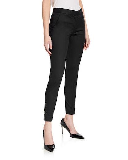 Vivian Skinny Zip-Cuff Pants