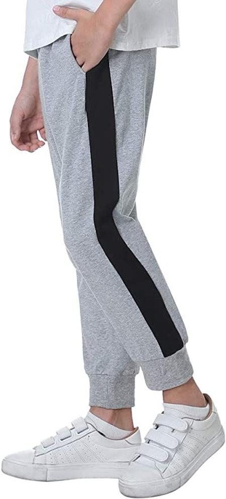 Sykooria Boys Jogger Pants Athletic Pants Cotton Drawstring Elastic Sweatpants with Pockets
