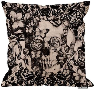 Linen Skull Pillow