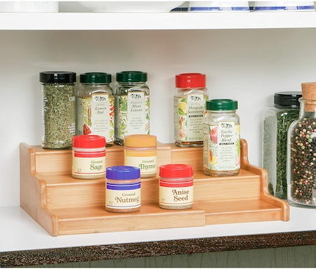 Seville Classics Bamboo Spice Rack