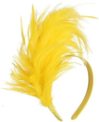 FELIZHOUSE 1920s Fascinator Feathers Headband for Women Kentucky Derby Wedding Tea Party Headwear Girls Flapper Headpiece